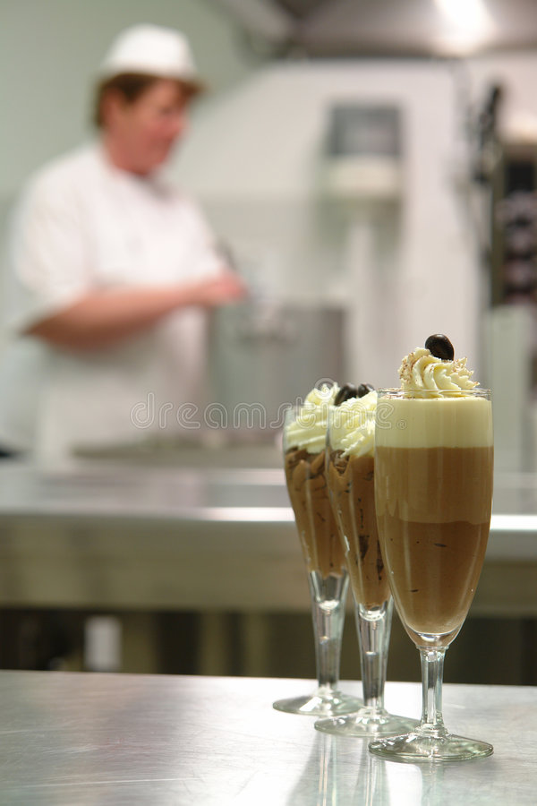 Chocolate mousse dessert stock photography
