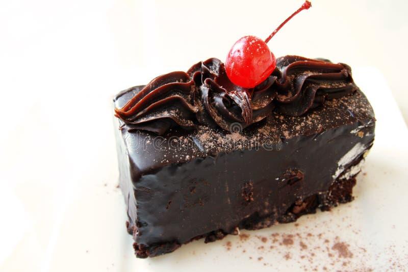 Chocolate mud cake royalty free stock photography