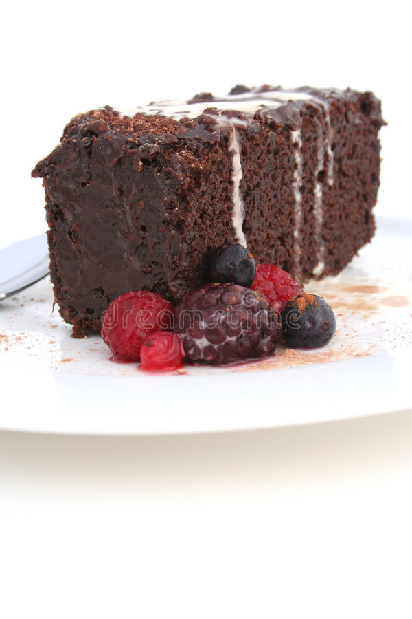 Download Chocolate Mud Cake Portrait Stock Photo - Image of eating, high: 454662