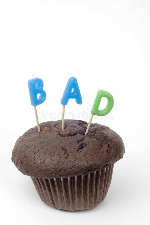 Download Chocolate Muffin BAD And Fattening Stock Photo - Image: 1905068