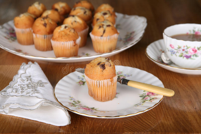 Download Chocolate Muffin for tea stock photo. Image of home, food - 21481024