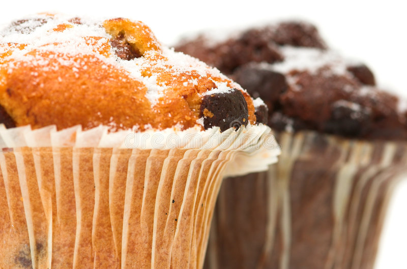 Download Chocolate Muffins stock photo. Image of chip, food, sweet - 1716164