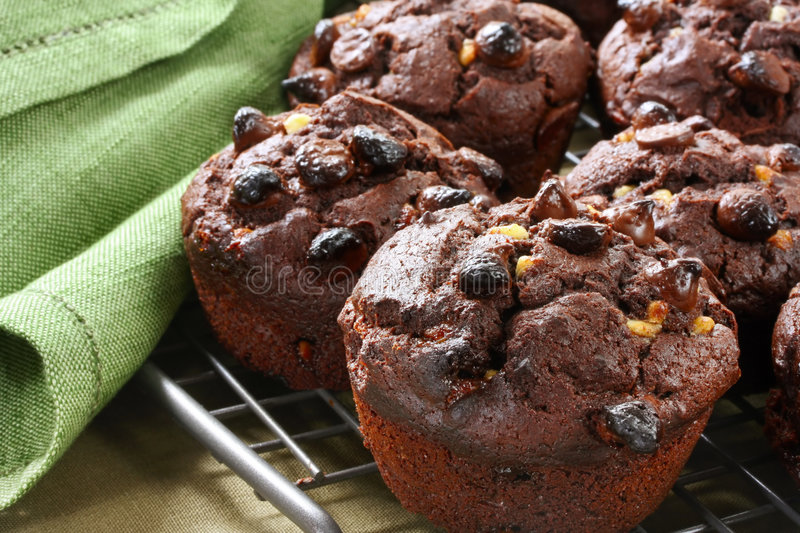Download Chocolate Muffins stock image. Image of white, baked, chip - 7227361