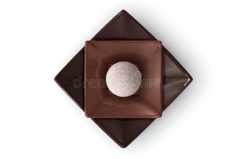 Chocolate no branco imagens de stock royalty free