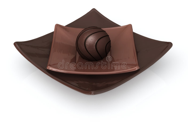 Chocolate no branco ilustração stock