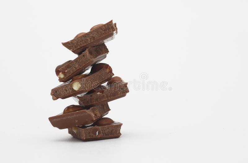 Download Chocolate with nuts stock photo. Image of nuts, brown - 15604020