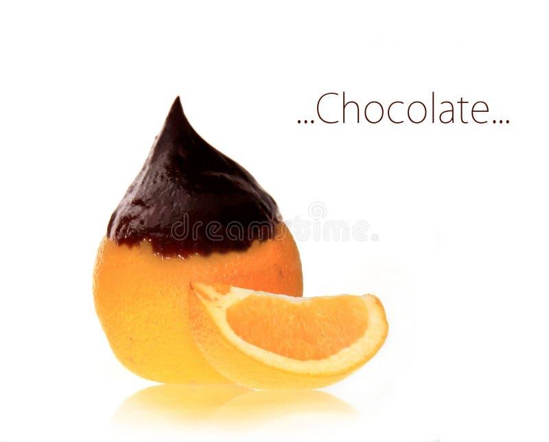 Chocolate orange stock photos
