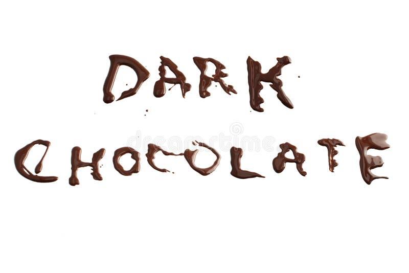 Chocolate oscuro foto de archivo libre de regalías