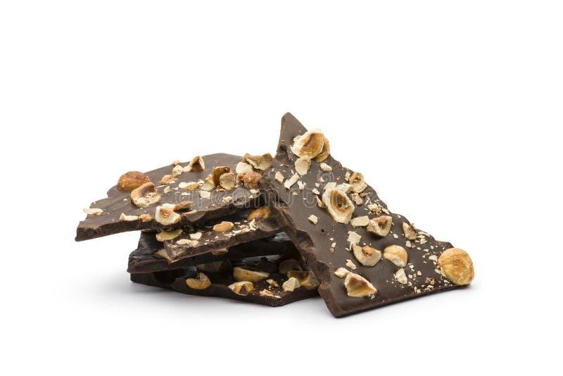 Chocolate oscuro de la avellana imagen de archivo libre de regalías