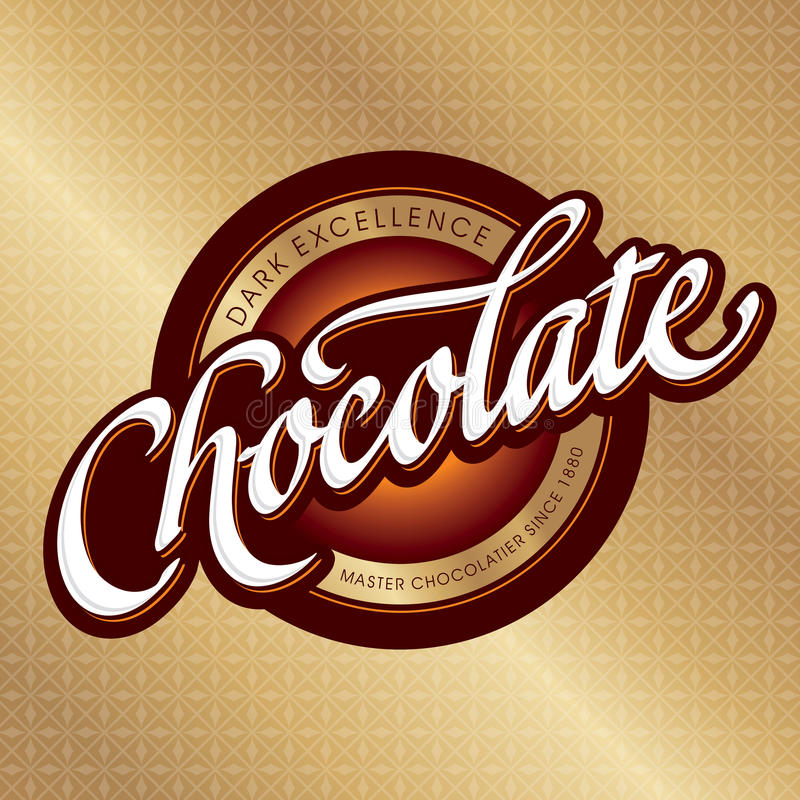 Chocolate packaging design (vector) royalty free illustration