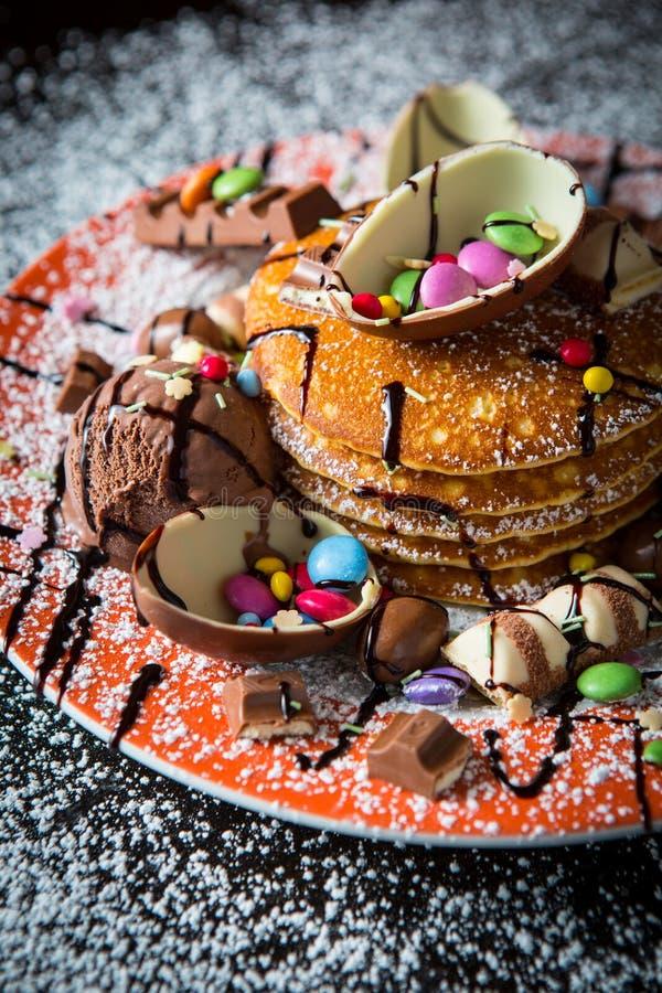 Chocolate Pancakes stock photography
