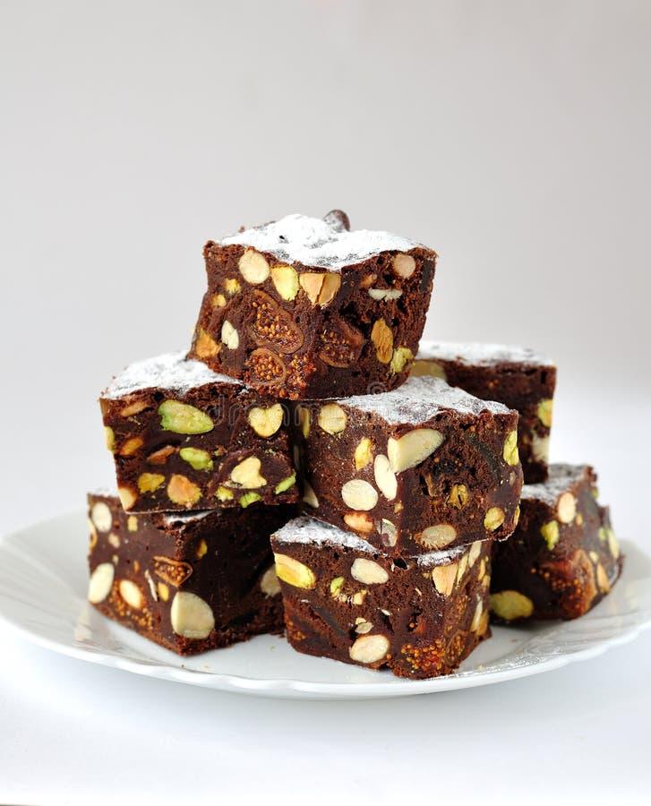 Chocolate Panforte imagen de archivo libre de regalías