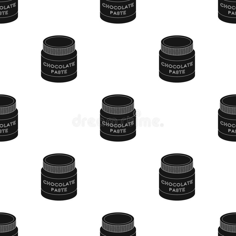 Chocolate paste icon in black style isolated on white background. Chocolate desserts symbol stock vector illustration. Chocolate paste icon in black design vector illustration