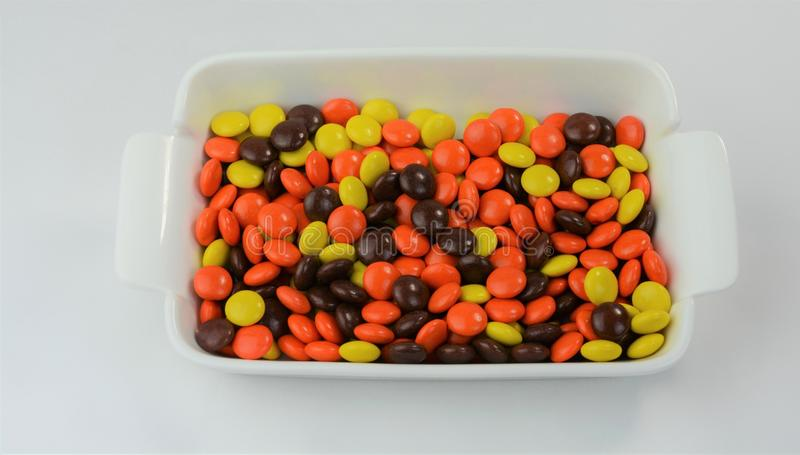 Chocolate & Peanut Butter Candy Coated Treats 3 stock photography