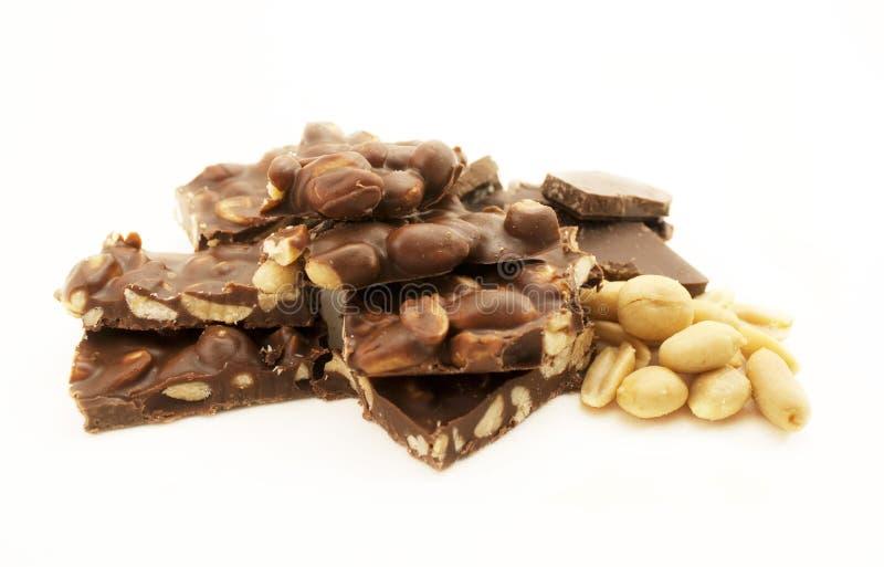 Chocolate and peanuts stock photo