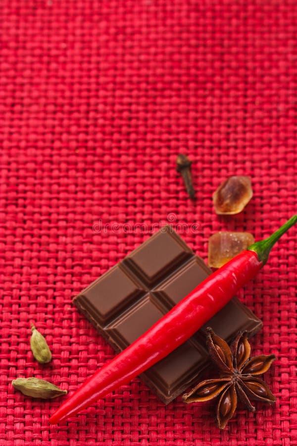 Chocolate picante. imágenes de archivo libres de regalías