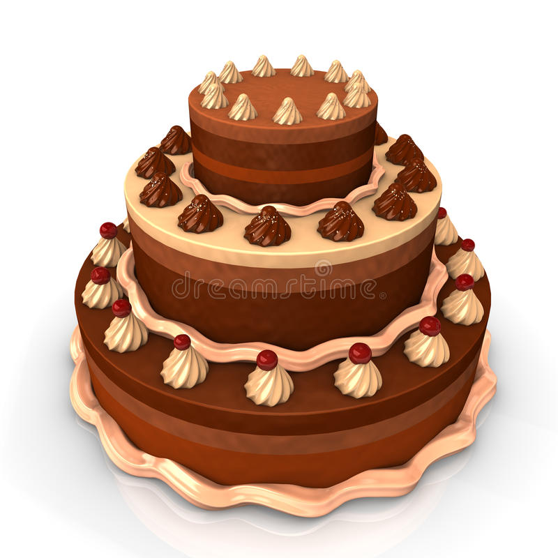 Download Chocolate Pie stock illustration. Image of sprinkles - 28794762