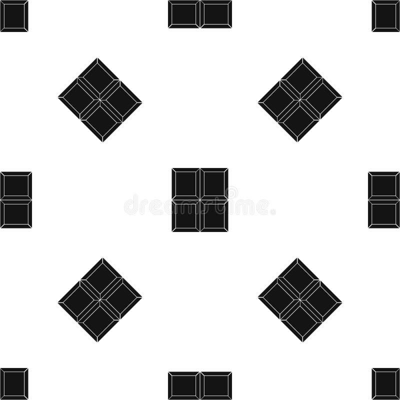 Chocolate piece pattern seamless black. Chocolate piece pattern repeat seamless in black color for any design. Vector geometric illustration stock illustration