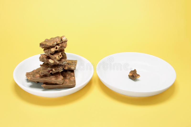 Download Chocolate Pieces on Plate stock image. Image of still - 22208329