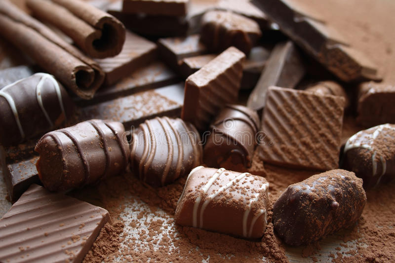 Download Chocolate stock photo. Image of closeup, delicious, background - 67066916