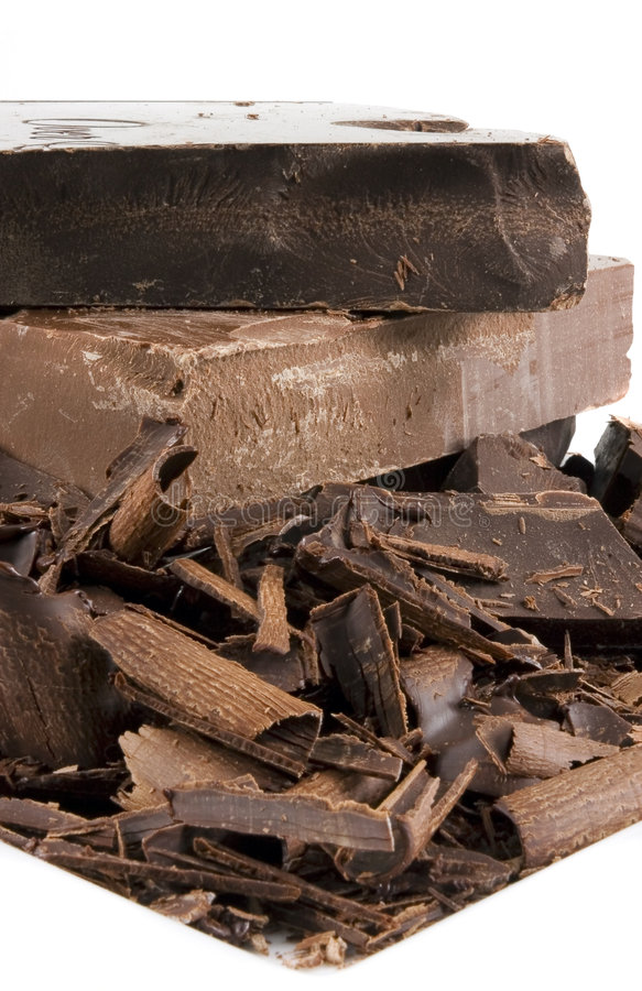 Download Chocolate Pile On White Plate Stock Photo - Image: 1820182