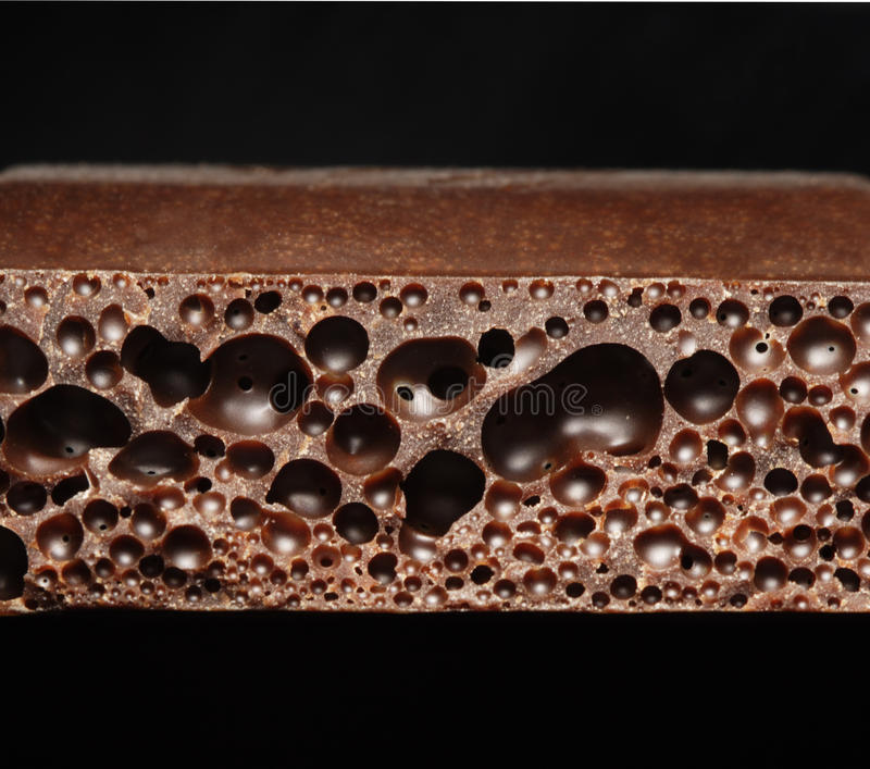 Chocolate poroso foto de stock royalty free