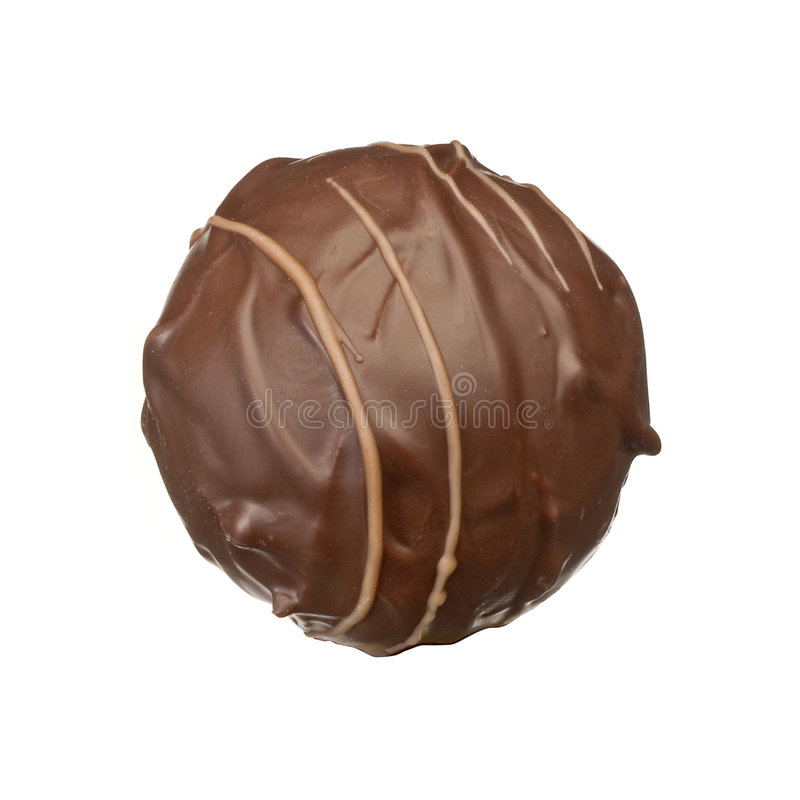 Chocolate pralines. On white background royalty free stock photo