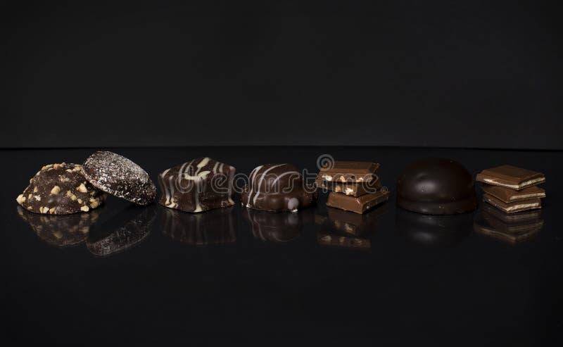 Chocolate preto e branco imagem de stock