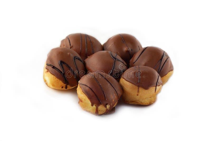 Chocolate Profiteroles imagen de archivo