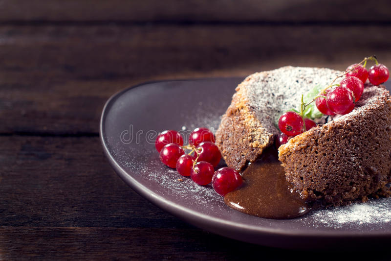 Download Chocolate pudding cake stock image. Image of cooking - 42800709