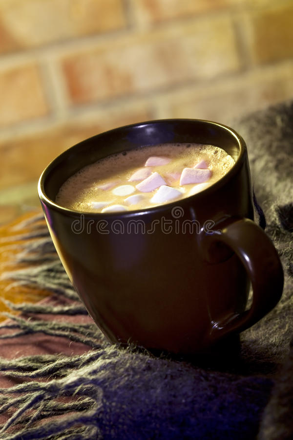 Download Chocolate quente foto de stock. Imagem de mohair, rosa - 10063106