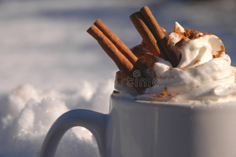 Chocolate quente imagens de stock