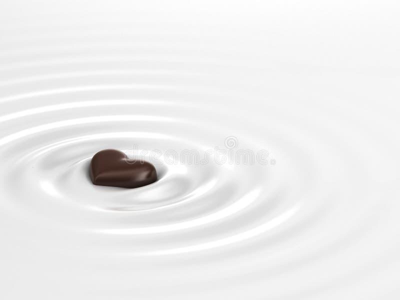Chocolate quente ilustração stock