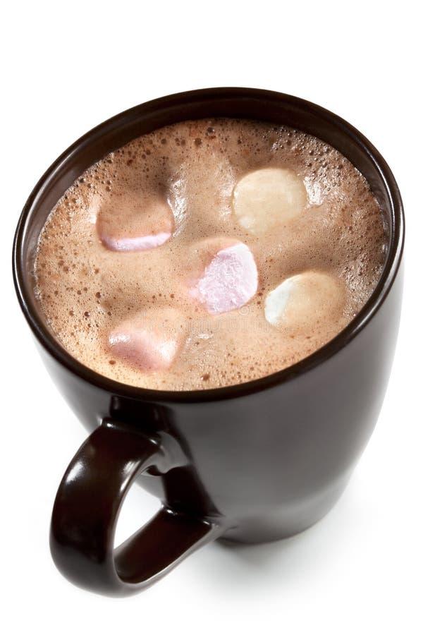 Chocolate quente com Marshmallows foto de stock