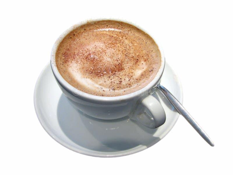 Chocolate quente com o leite cozinhado, coberto geralmente com leite espumado fotografia de stock royalty free