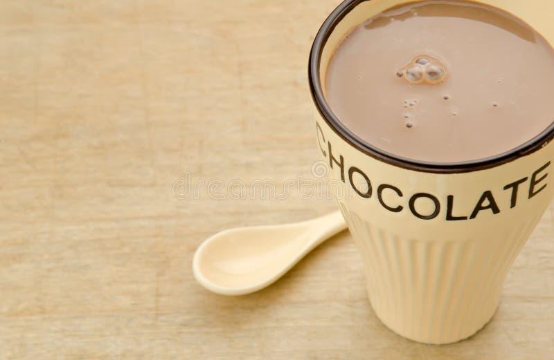 Chocolate quente da caneca fotografia de stock