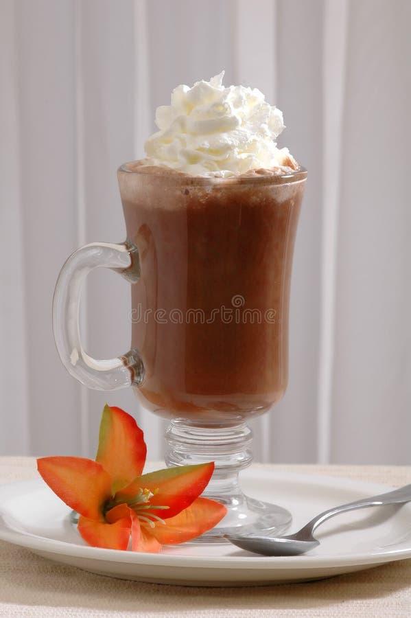 Chocolate quente e creme imagens de stock