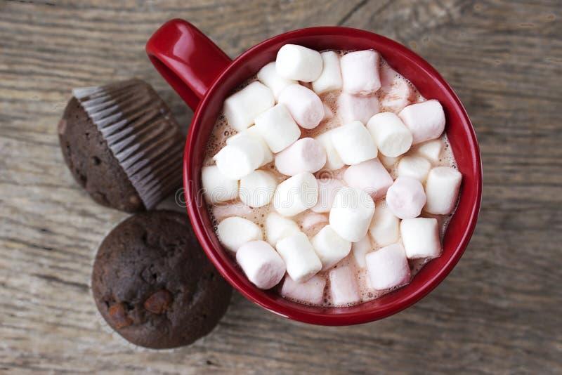 Chocolate quente e Marshmallows fotografia de stock royalty free