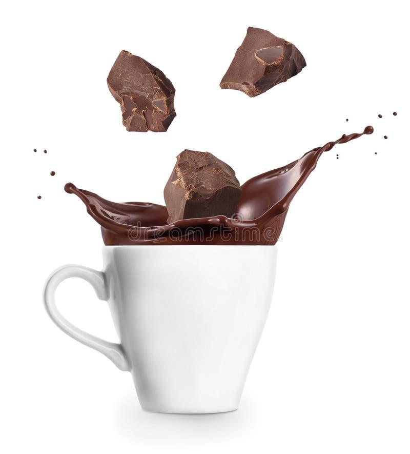 Chocolate quente no copo imagens de stock royalty free