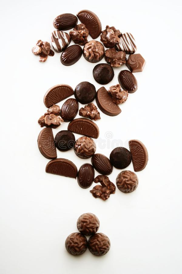 Chocolate Question-mark Free Stock Photos