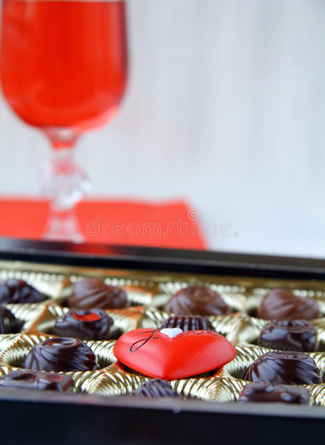 Download Chocolate With A Red Heart Stock Images - Image: 17725254