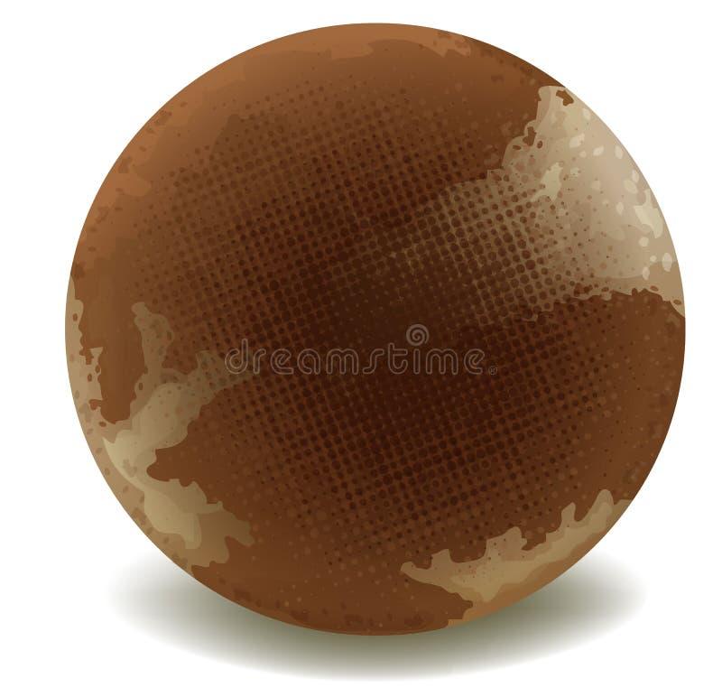Chocolate redondo ilustración del vector