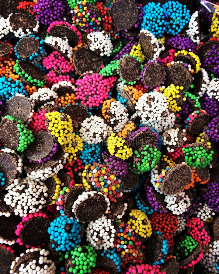 Chocolate sabroso del colorfull foto de archivo