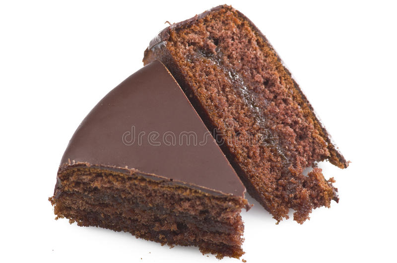 Chocolate sacher cake royalty free stock images