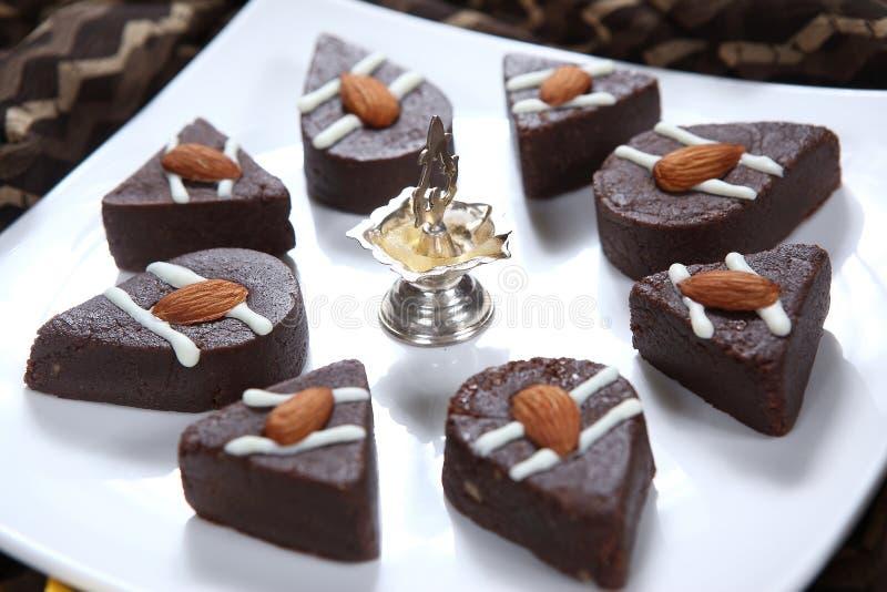 Chocolate Sandesh, confitería del bengalí del chocolate imagen de archivo