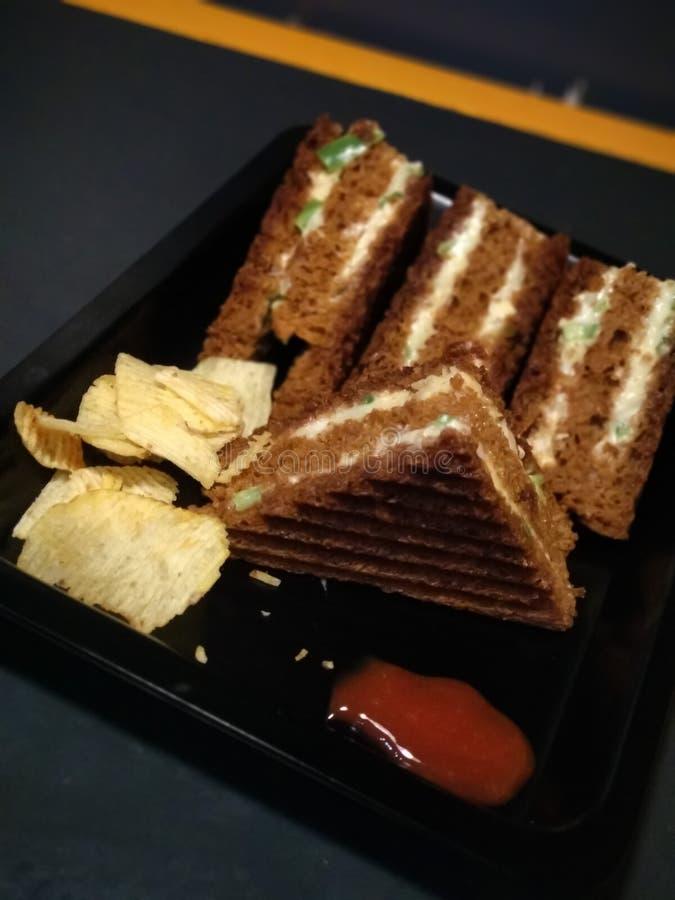 Bread sandwich Mumbai stock image