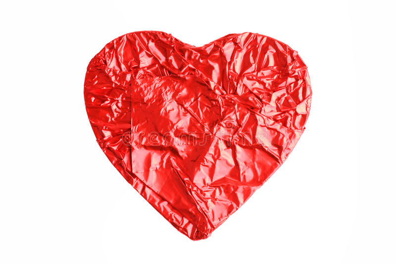 Download Chocolate In The Shape Of A Heart Wrapped In Stock Photo - Image of foil, bright: 22236068