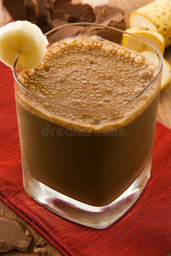 Chocolate smoothie stock photography