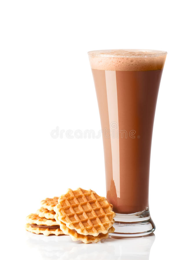 Download Chocolate Smoothie With Wafers Stock Image - Image: 15752877