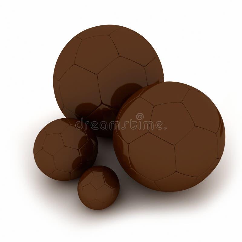 Chocolate soccer balls stock photography